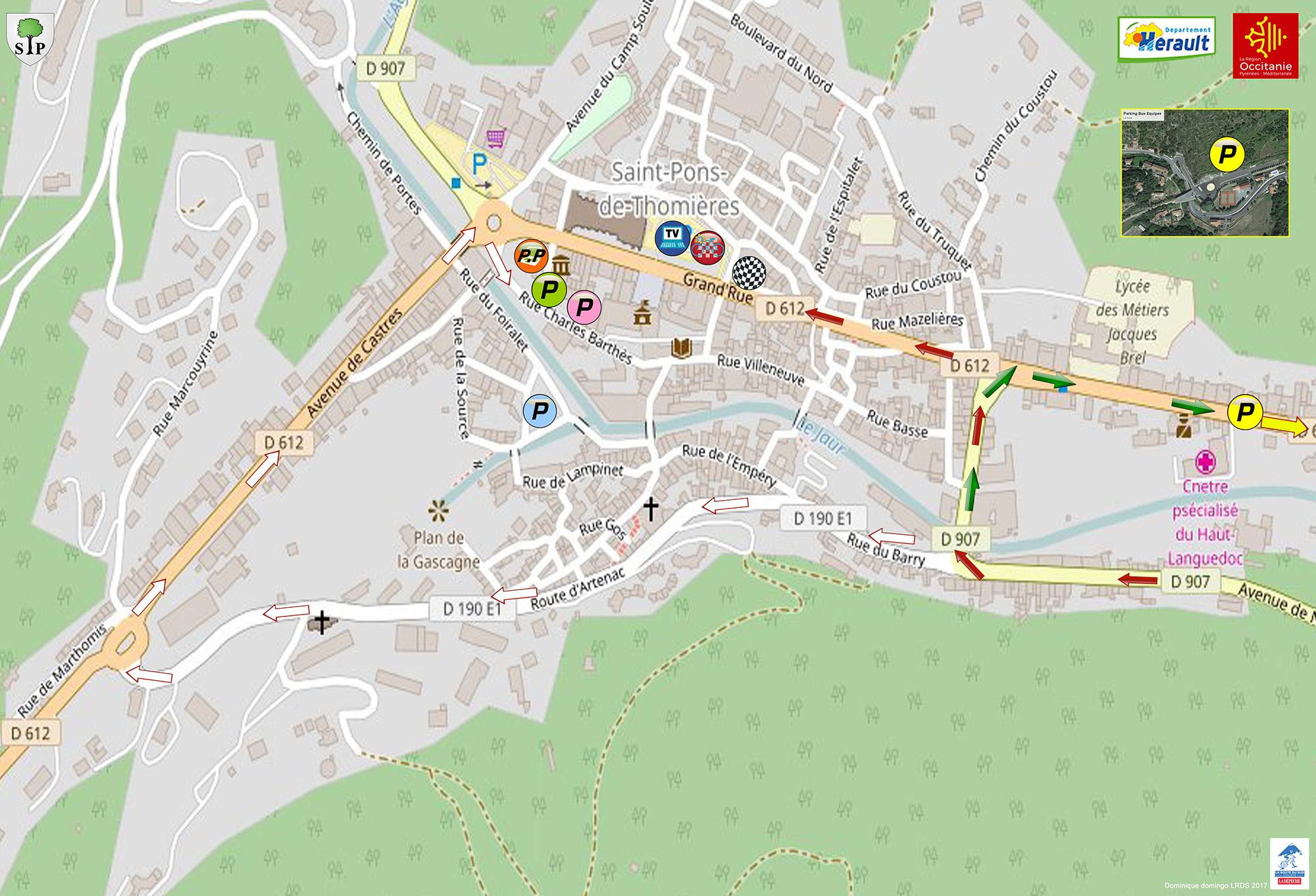 Plan Saint-Pons-de-Thomières