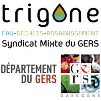 Trigone et département du Gers